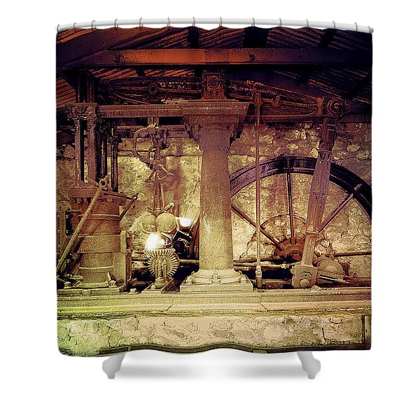 Shower Curtain featuring the photograph Grunge Cane Mill by Robert G Kernodle