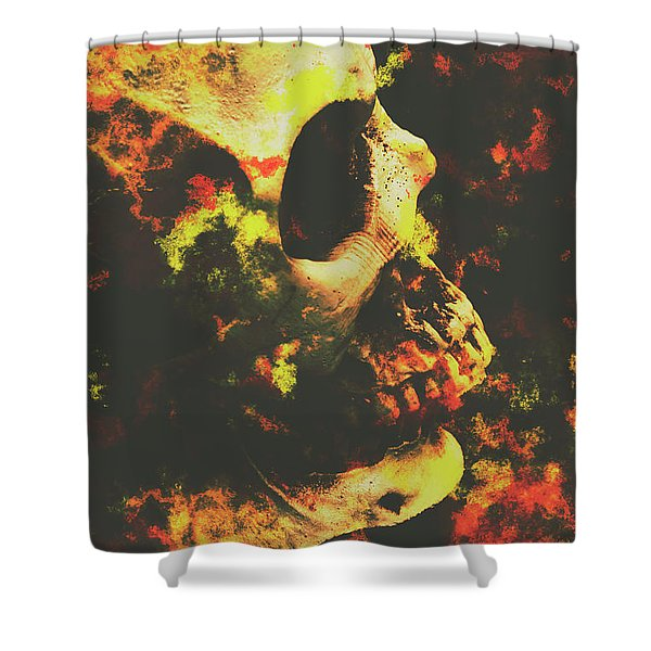 Grunge Frightener Shower Curtain