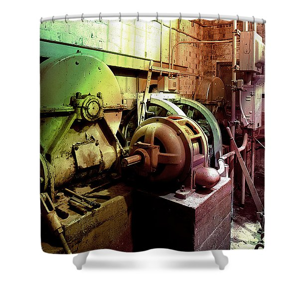 Grunge Hydroelectric Plant Shower Curtain