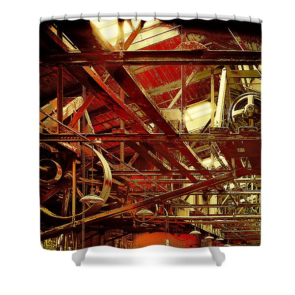 Shower Curtain featuring the photograph Grunge Power System by Robert G Kernodle