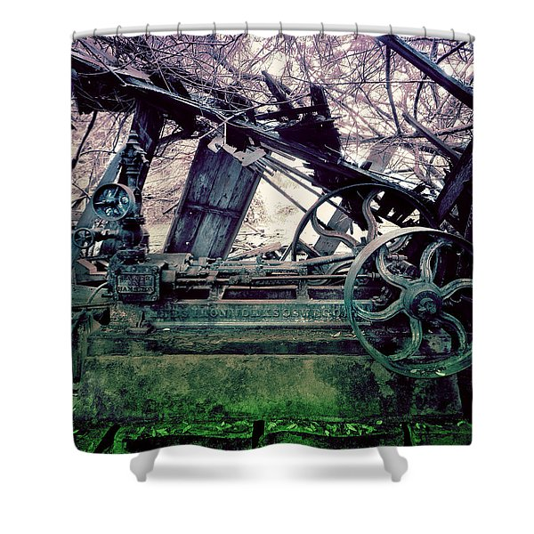 Shower Curtain featuring the photograph Grunge Steam Engine by Robert G Kernodle