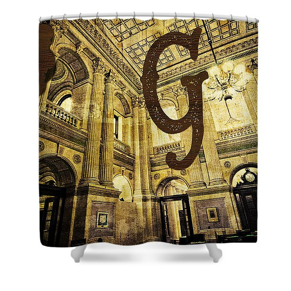 Grungy Melbourne Australia Alphabet Series Letter G Government P Shower Curtain