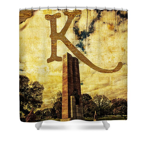 Grungy Melbourne Australia Alphabet Series Letter K Kings Domain Shower Curtain