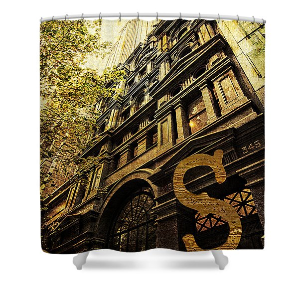 Grungy Melbourne Australia Alphabet Series Letter S Collins Stre Shower Curtain