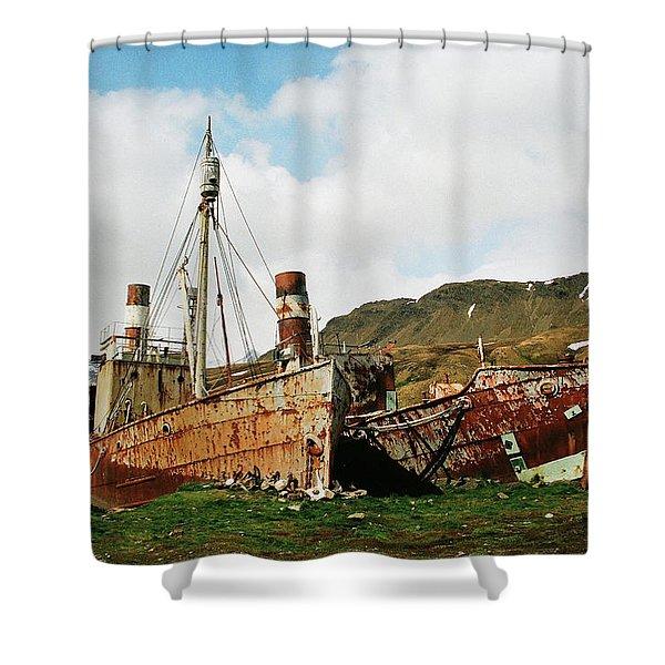 Grytviken Ghosts Shower Curtain