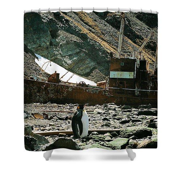 Grytviken Sentinel Shower Curtain