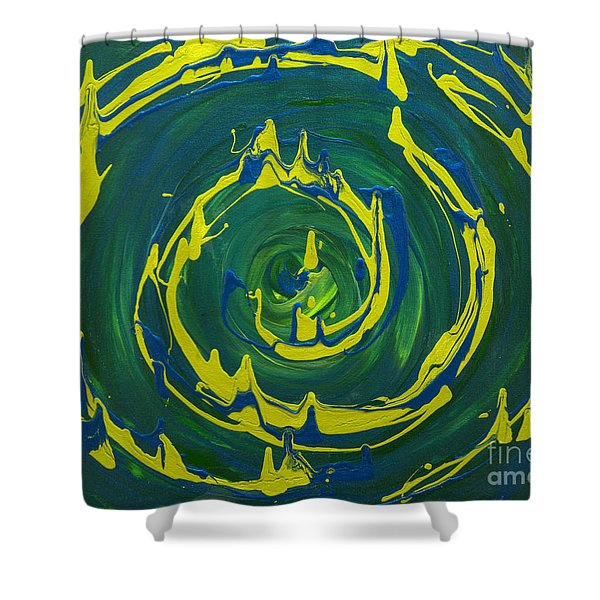 Guacamole Swirl Shower Curtain
