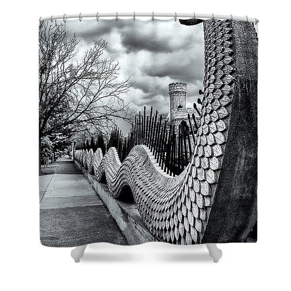 Guading The Castle Shower Curtain
