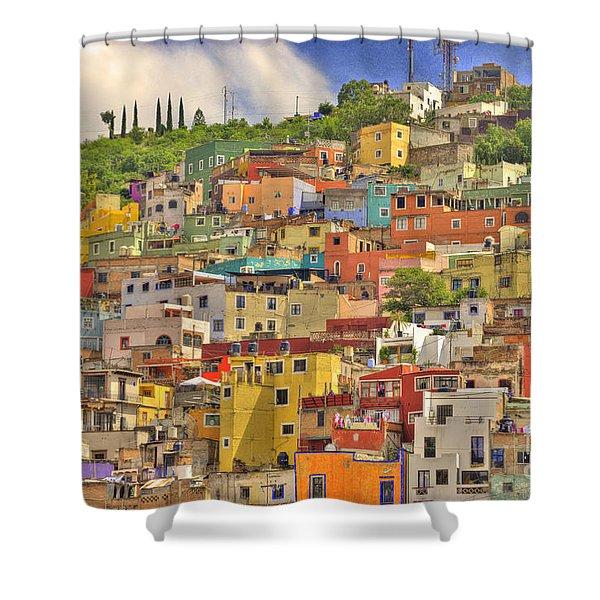 Guanajuato Hillside Shower Curtain