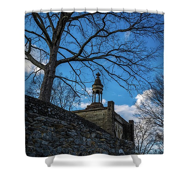 Guarded Summit Memorial Shower Curtain