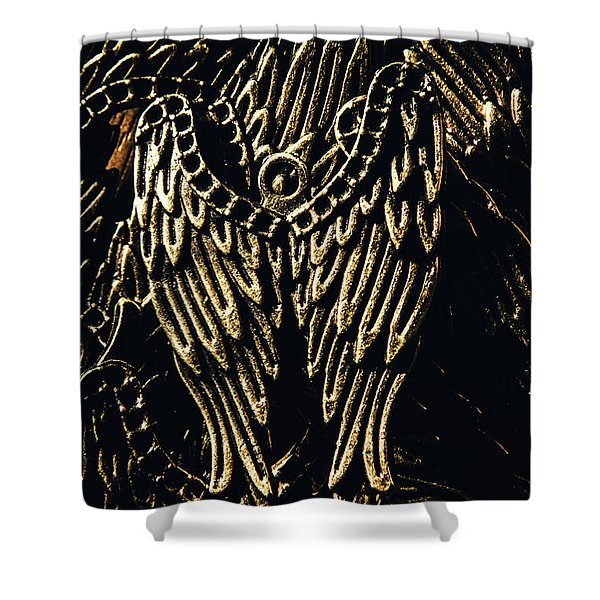 Guardian Angel Charms Shower Curtain