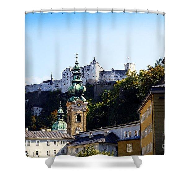 Fortress Guarding Salzburg Shower Curtain