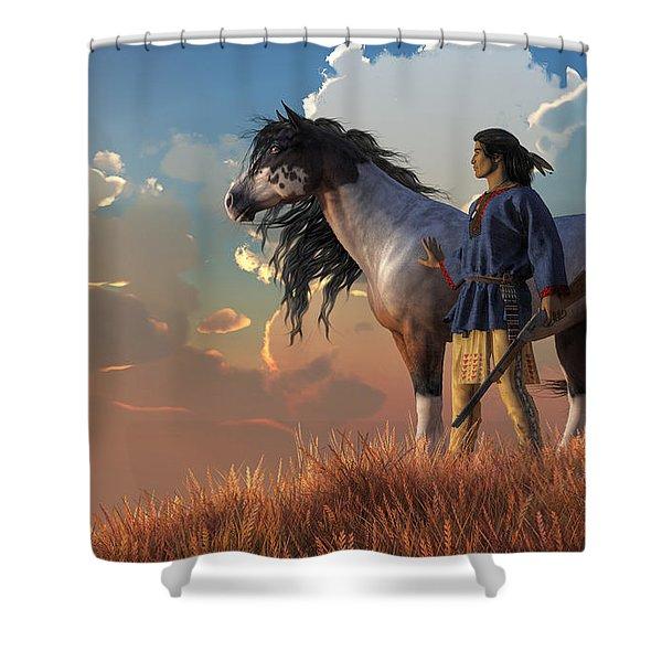 Guardians Of The Plains Shower Curtain