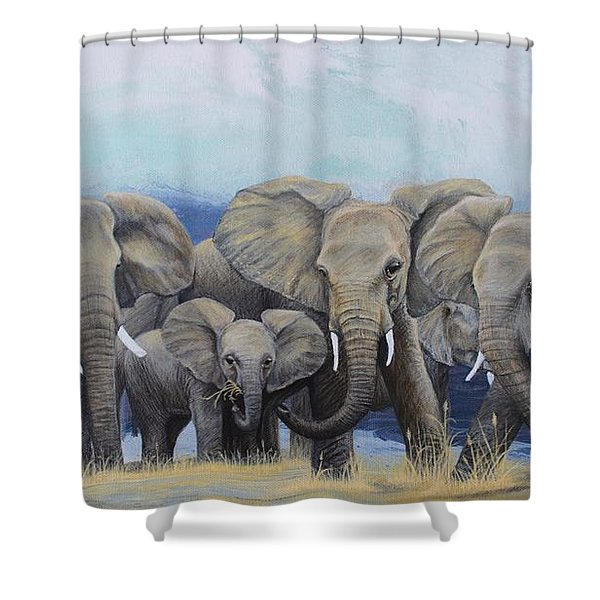 Guarding The Future Shower Curtain