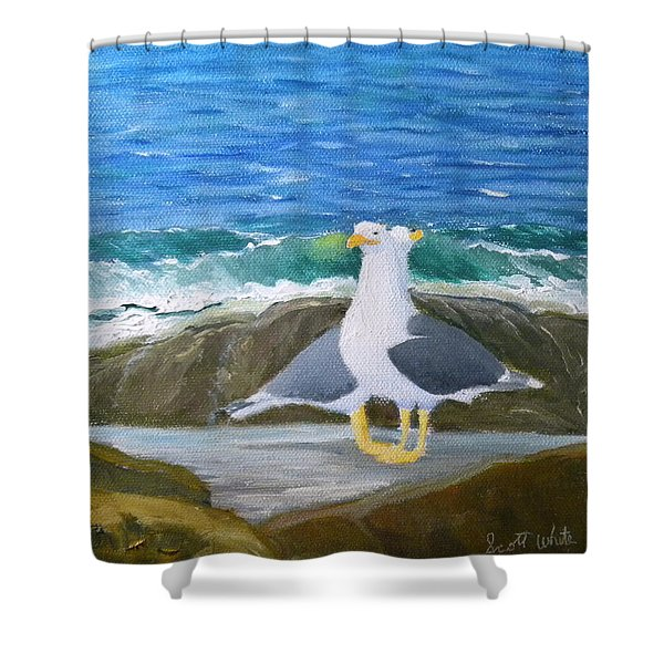 Guarding The Land And Sea Shower Curtain