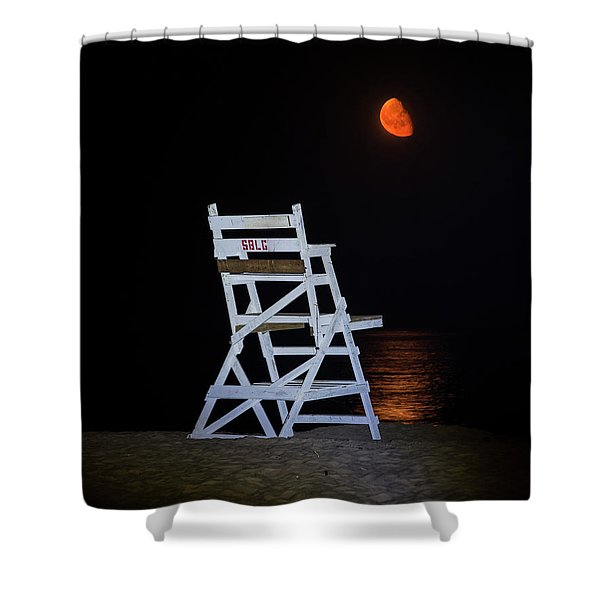 Guarding The Moon On Singing Beach Manchester-by-the-sea Ma Shower Curtain