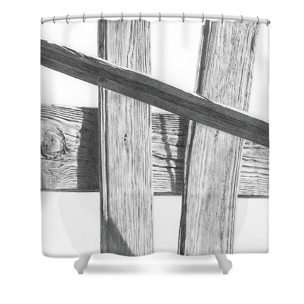 Guarding Time Shower Curtain