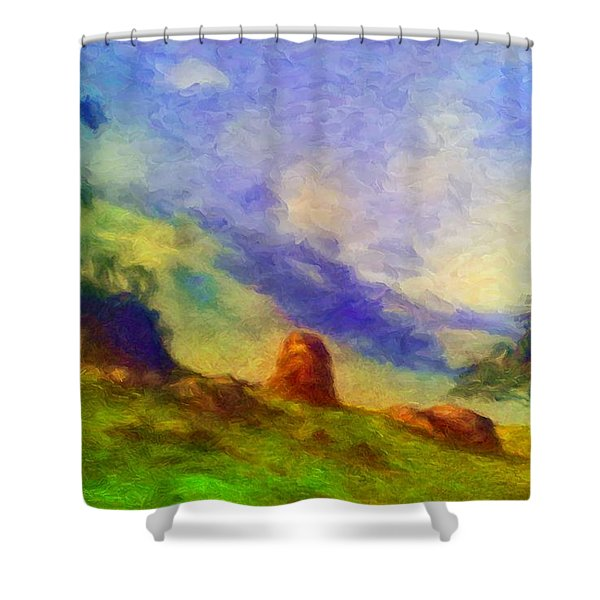 Guatapara Shower Curtain