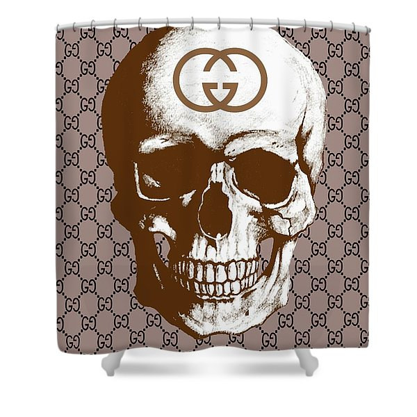 7f7e13e46a4 Gucci Poster Gucci Print Gucci Skull Brown Print Shower Curtain