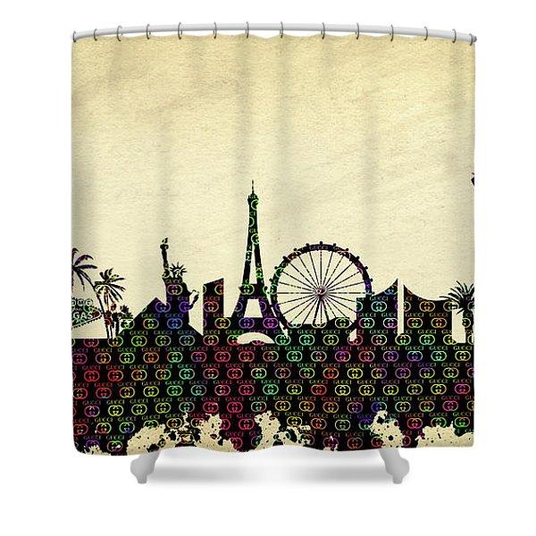 5373089db46 Gucci Vegas Skyline Shower Curtain