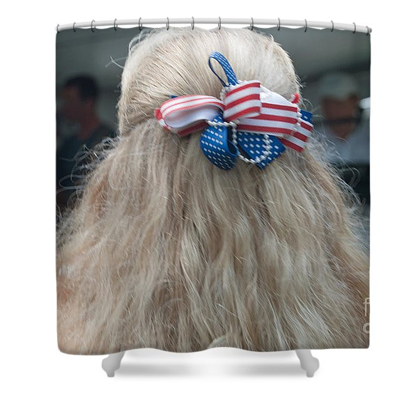 Red, White And Bow Shower Curtain