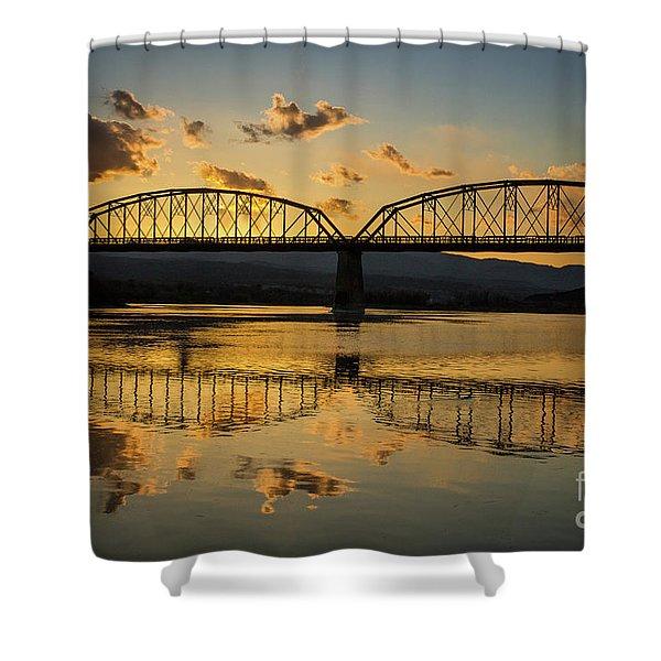 Guffey Bridge At Sunset Idaho Journey Landscape Photography By Kaylyn Franks Shower Curtain
