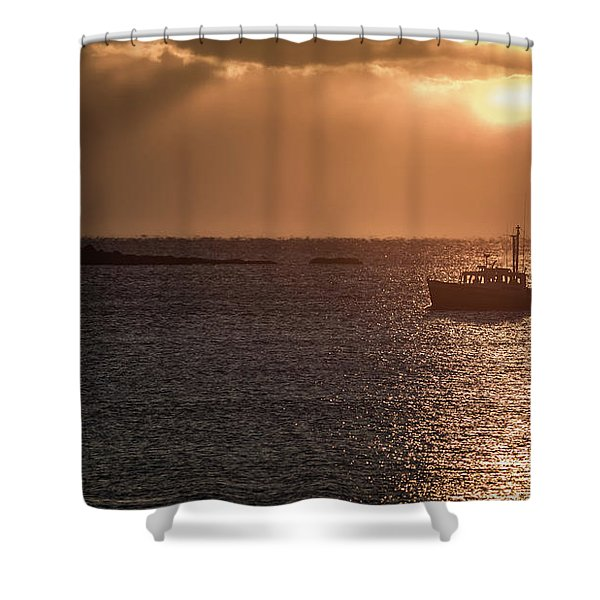 Guided By The Light Shower Curtain