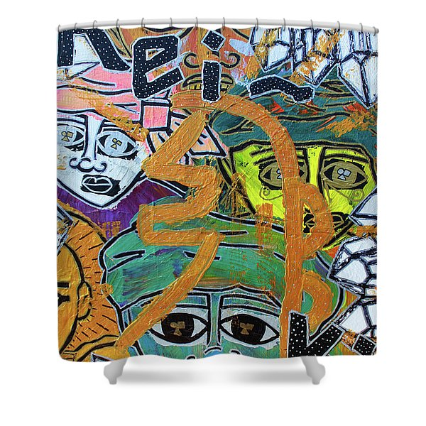 Guides And Guardians Shower Curtain
