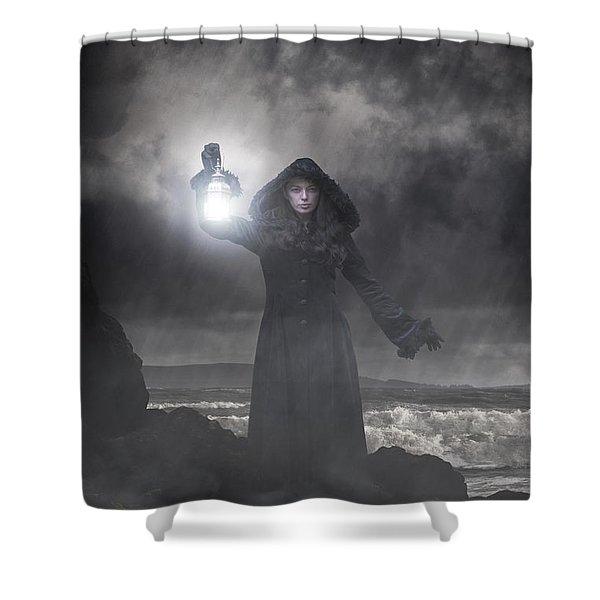 Guiding Light Shower Curtain