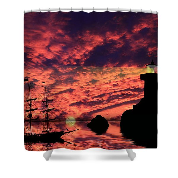 Guiding The Way Shower Curtain