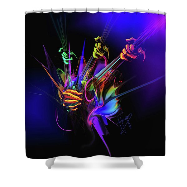 Guitar 3000 Shower Curtain