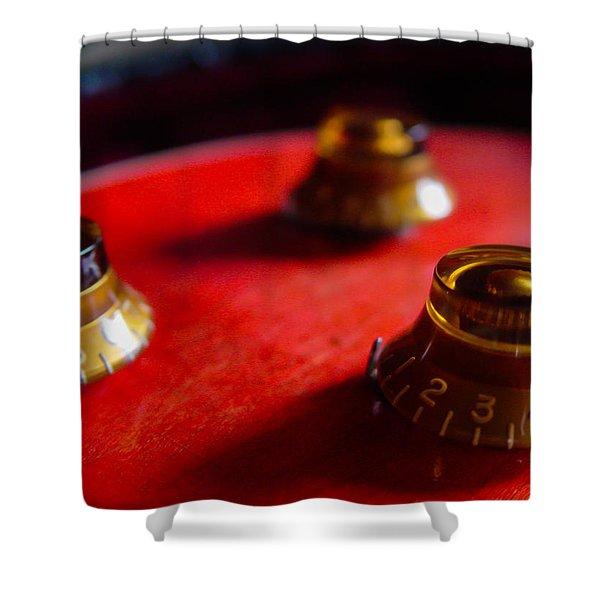 Guitar Controls Series Shower Curtain