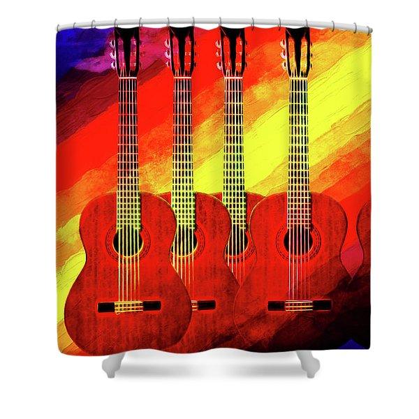 Guitar Fantasy One Shower Curtain