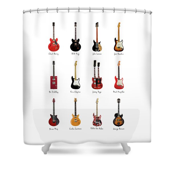 Guitar Icons No1 Shower Curtain
