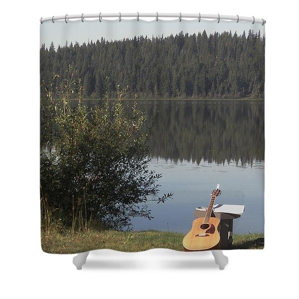 Guitar Lake Shower Curtain