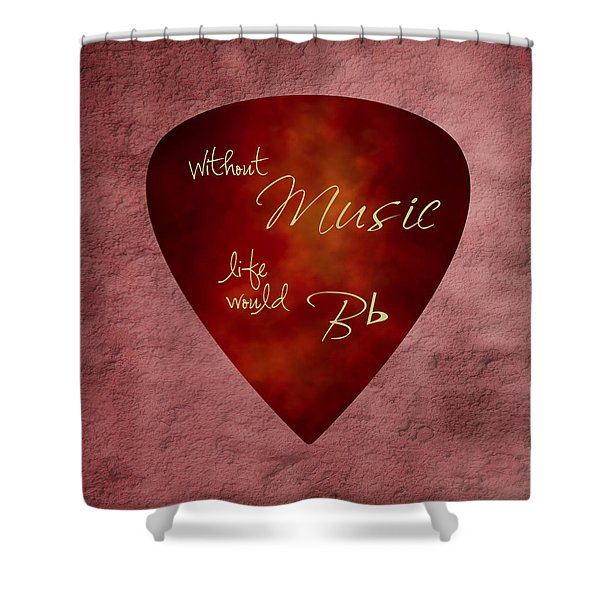 Guitar Pick - Without Music Shower Curtain