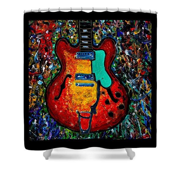 Guitar Scene Shower Curtain