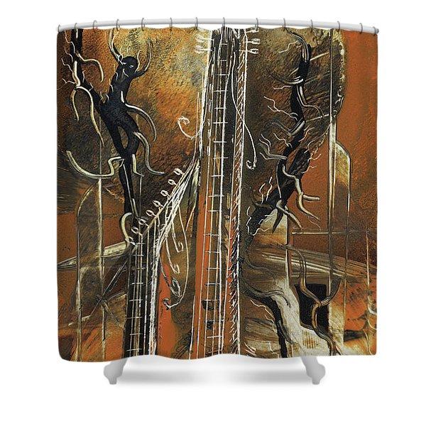 Guitar World Shower Curtain