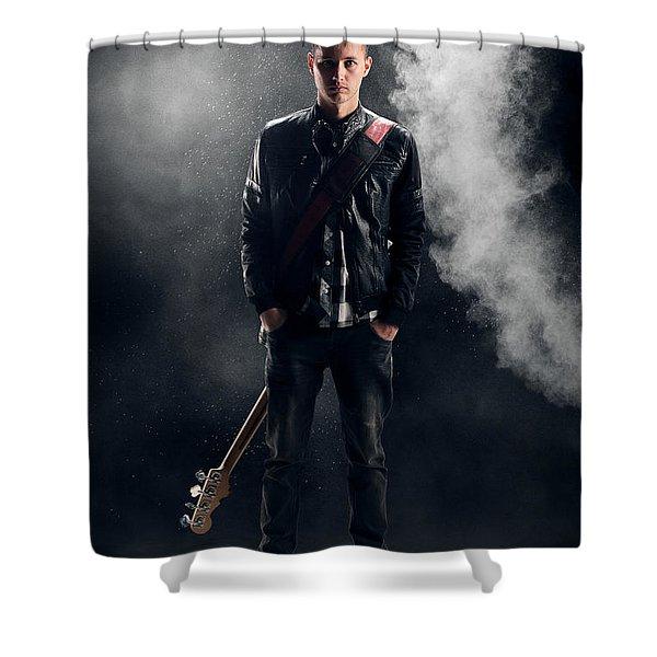 Guitarist Shower Curtain