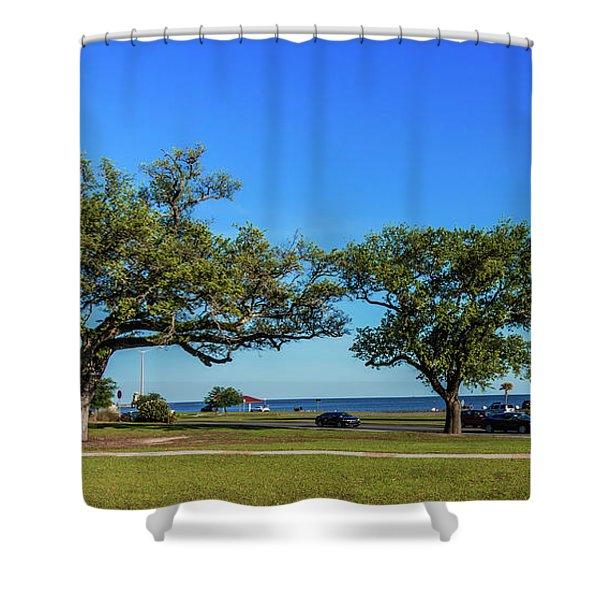 Gulf Coast Lighthouse Seascape Biloxi Ms 3663b Shower Curtain
