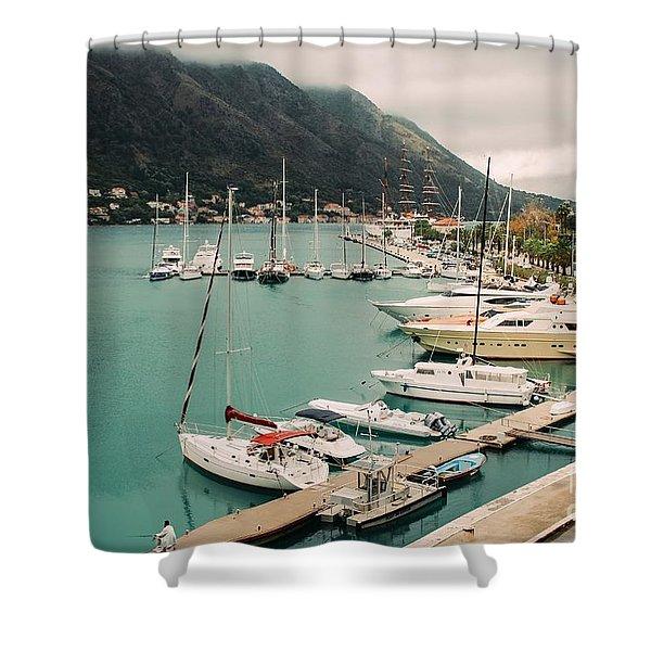 Gulf Of Kotor Shower Curtain