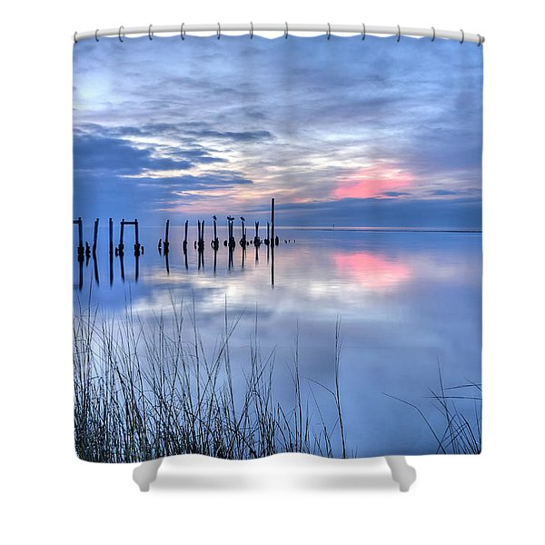 Gulf Reflections Shower Curtain