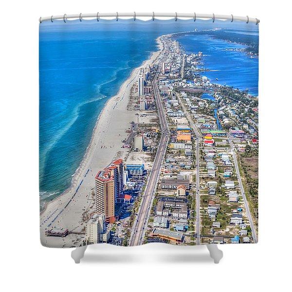 Gulf Shores Beach Looking W Shower Curtain