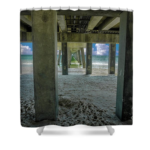 Gulf Shores Park And Pier Al 1649 Shower Curtain