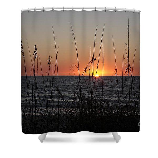 Gulf Sunset In Florida Shower Curtain
