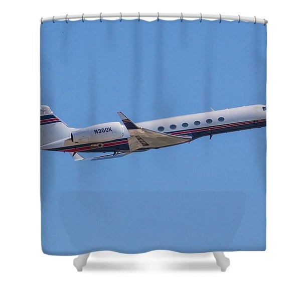 Gulfstream Gv Private Jet Shower Curtain