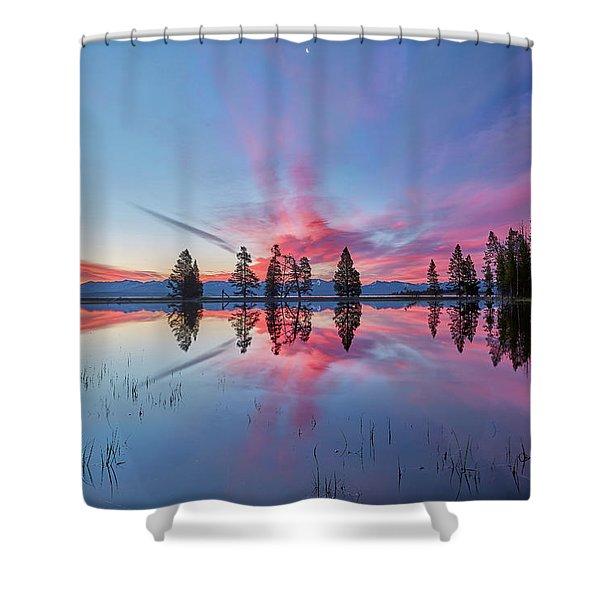 Gull Point At Sunrise Shower Curtain