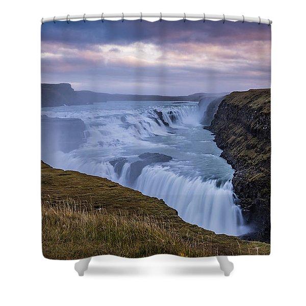 Gullfoss, Sunrise Shower Curtain