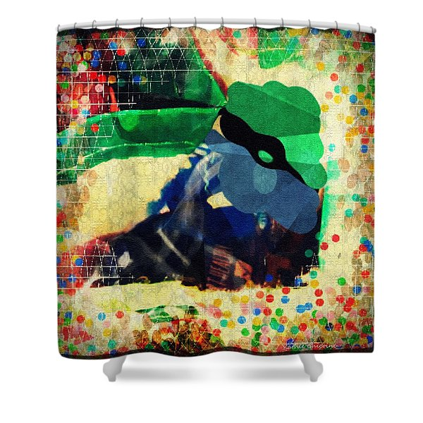 Gumballs And Races Shower Curtain
