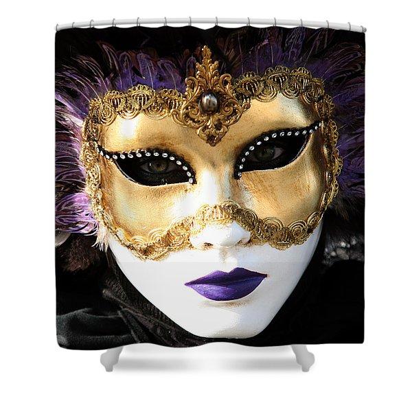 Gunilla Maria's Purple Feathers Shower Curtain